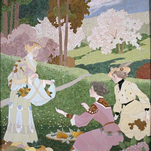 Gaspar Homar - Tres dones collint fruita - Cap a 1905-1906