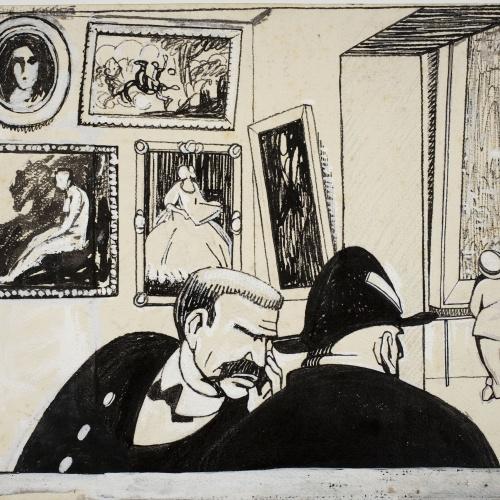Feliu Elias - In the Museum - Circa 1910