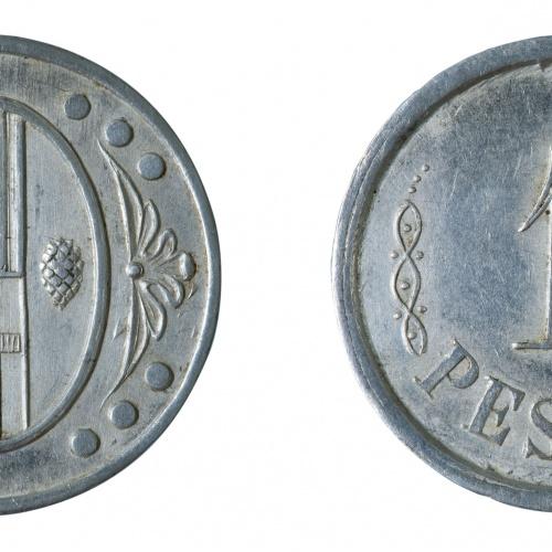 Ajuntament de l'Ametlla del Vallès - 1 pesseta - 1937