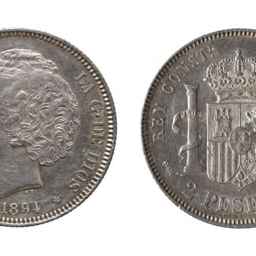 Alfons XIII d'Espanya - 2 pessetes - 1894
