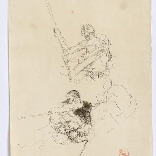 Marià Fortuny - Study for the picture 'The Sabre Grinder' - Circa 1872