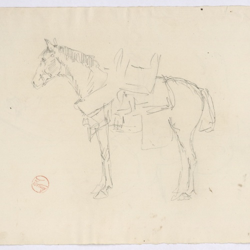 Marià Fortuny - Study for the engraving 'Moroccan Horse' - Circa 1860-1862