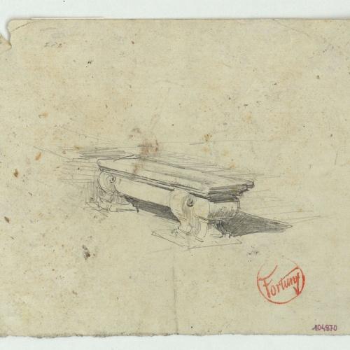 Marià Fortuny - Study for the watercolour 'Masquerade' - Circa 1868-1870