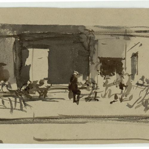 Marià Fortuny - Estudi per al quadre «La vicaria» - Cap a 1868-1870