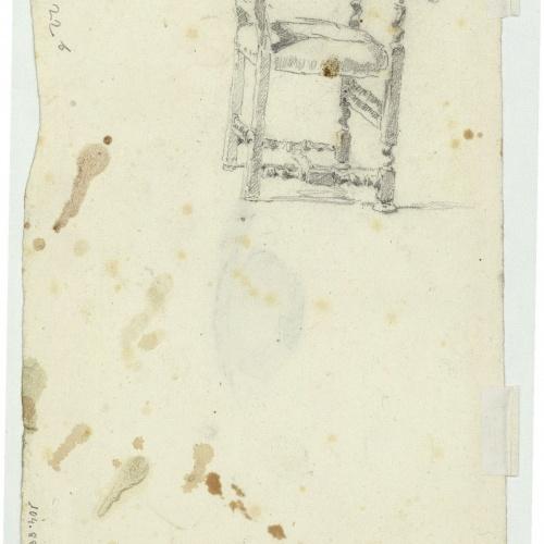Marià Fortuny - Estudi per al gravat «Cabilenc mort» (anvers) / Estudi per al quadre «La vicaria» (revers) - Cap a 1867 [1]