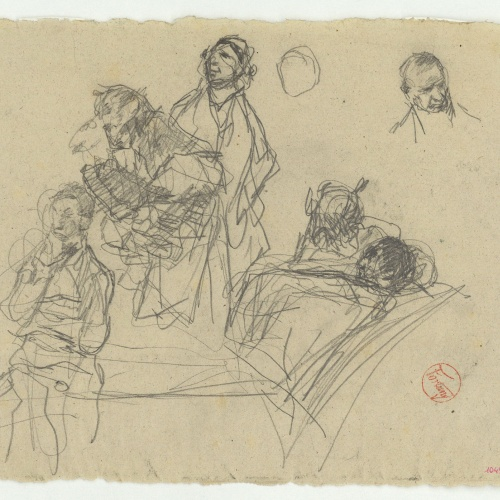 Marià Fortuny - Study for the picture 'The Poets' Garden' - Circa 1871