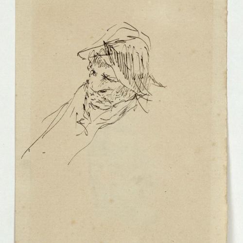 Marià Fortuny - Retrat de dona (anvers) / Estudi per al quadre «La vicaria» (revers) - Cap a 1870-1874 [1]