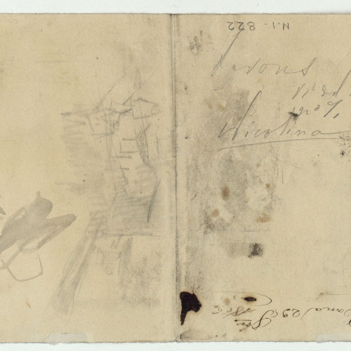 Marià Fortuny - Unidentifiable sketches and notes - 1866