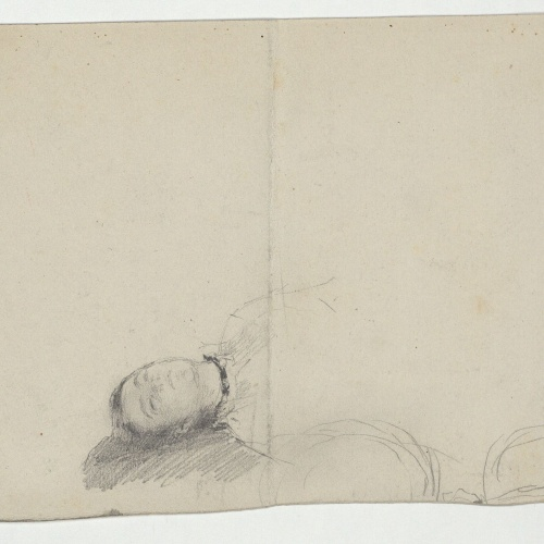 Marià Fortuny - Head of a sleeping woman  - Circa 1867-1872