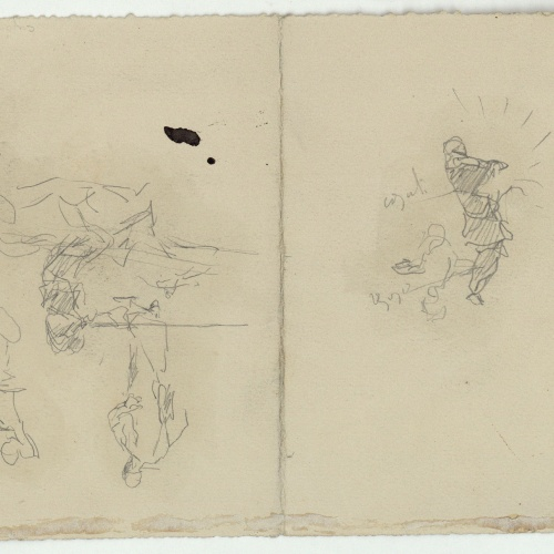 Marià Fortuny - Rough figure sketches - Circa 1860-1862