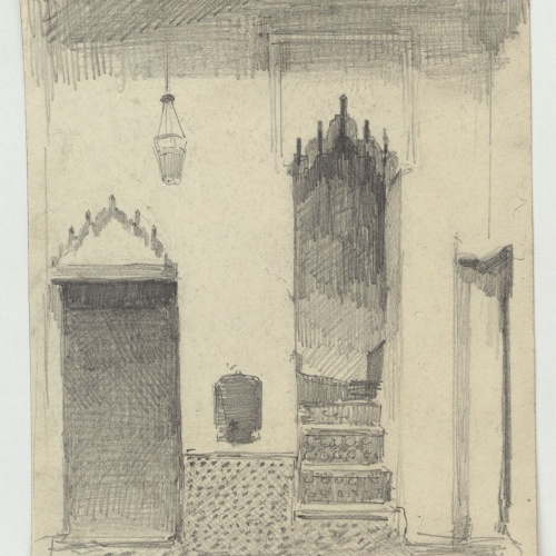 Marià Fortuny - Interior of a Muslim-style house - Circa 1860