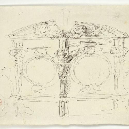 Marià Fortuny - Ornament arquitectònic - Cap a 1867-1870
