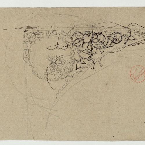 Marià Fortuny - Carcanyol amb motius vegetals - Cap a 1860-1862