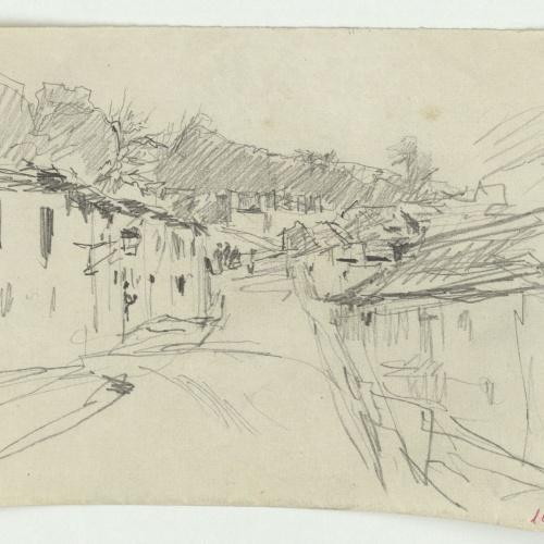Marià Fortuny - Carrer de poble - Cap a 1870-1872