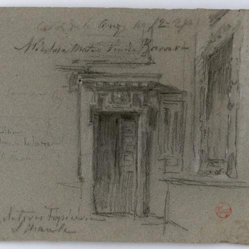 Marià Fortuny - Esbós de porta i finestra - Cap a 1867-1872
