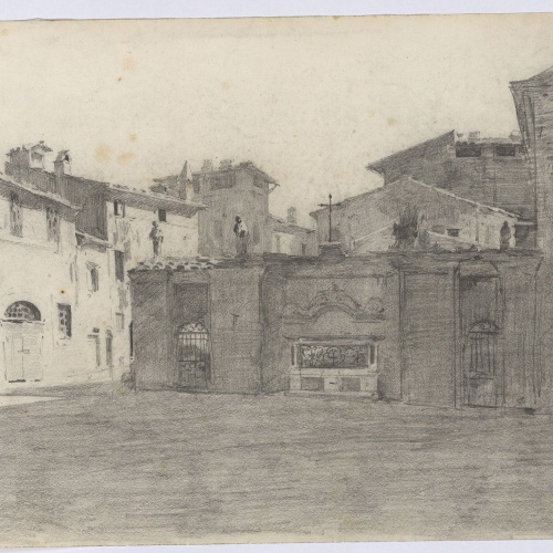 Marià Fortuny - Plaça d'una població - Cap a 1863-1872