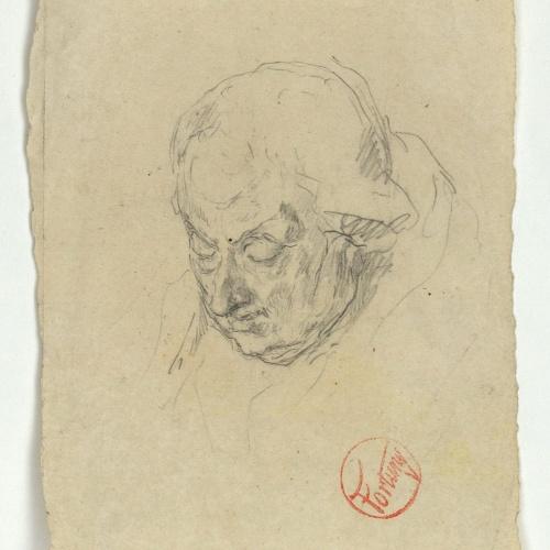 Marià Fortuny - Estudi per al gravat «Dos cardenals» o «Retrat d'un bisbe» - Cap a 1863-1866