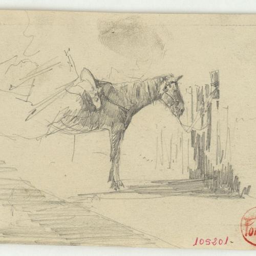 Marià Fortuny - Esbós de cavall - Cap a 1860-1862