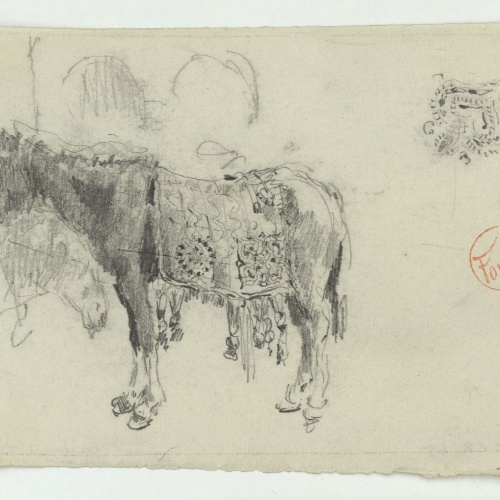 Marià Fortuny - Mula amb albarda d'estil musulmà - Cap a 1860-1862