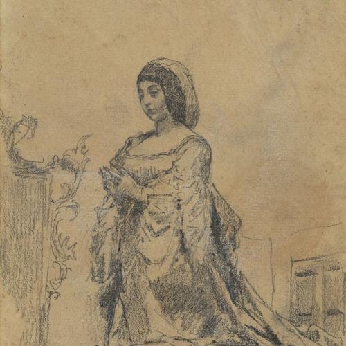 Marià Fortuny - Còpia de l'estàtua d'Isabel la Catòlica - Cap a 1867-1872