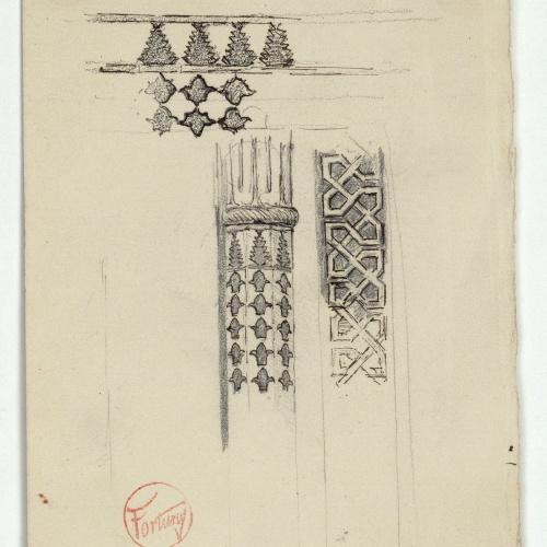 Marià Fortuny - Sanefes i columna d'estil musulmà - Cap a 1870-1872