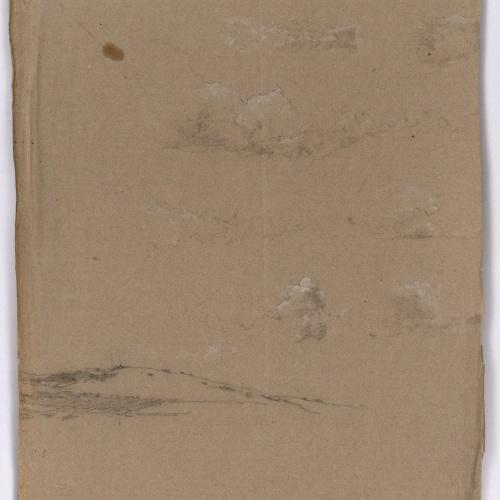 Marià Fortuny - Paisaje con nubes - Hacia 1860-1862