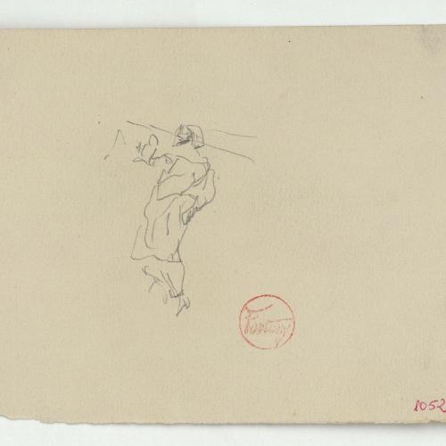 Marià Fortuny - Preliminary drawing of a Moroccan - Circa 1860-1862