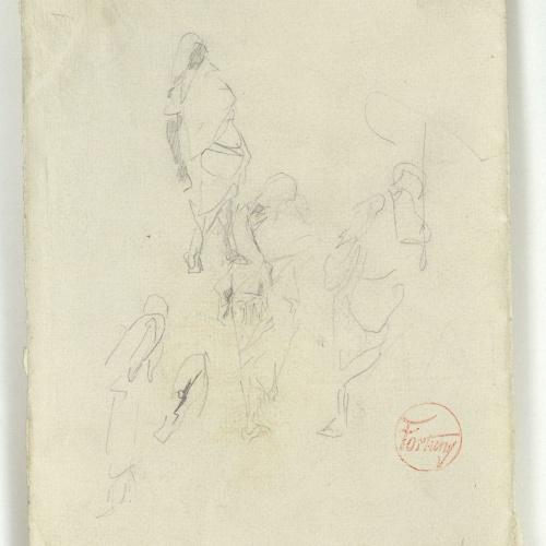 Marià Fortuny - Rough sketch of Moroccans - Circa 1860-1862