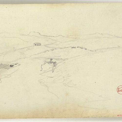 Marià Fortuny - Moroccan landscape - Circa 1860-1862