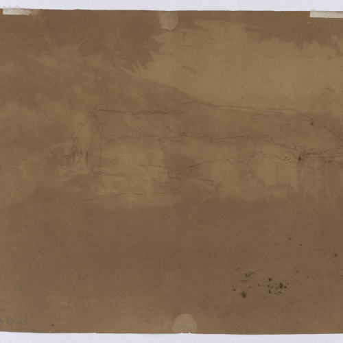 Marià Fortuny - Preliminary drawing of Moroccan hut - Circa 1860-1862