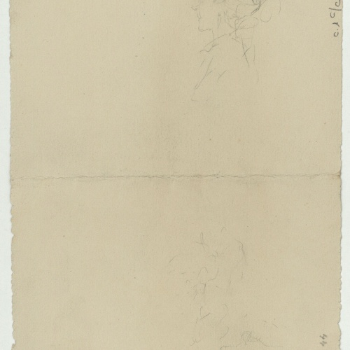 Marià Fortuny - Preliminary drawing of a female head - Circa 1867-1874