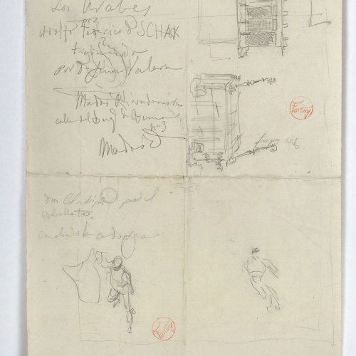 Marià Fortuny - Various preliminary drawings - Circa 1870-1872
