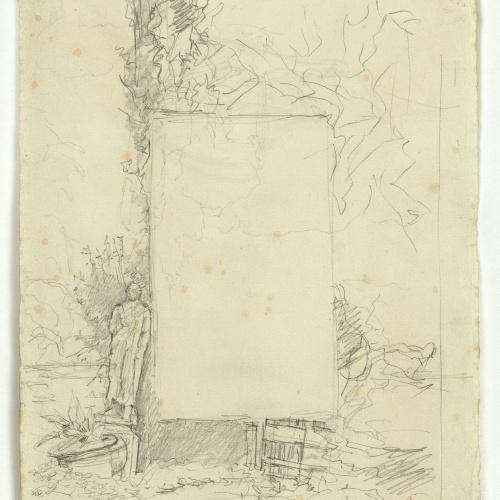 Marià Fortuny - Portada de llibre (anvers) / Casc (revers) - Cap a 1867-1872