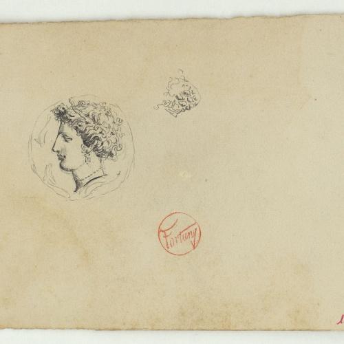 Marià Fortuny - Moneda antiga - Cap a 1863-1867