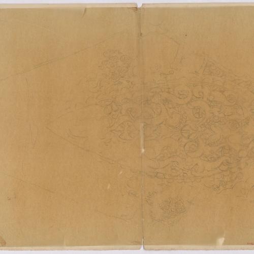 Marià Fortuny - Calc d'ornamentació d'estil musulmà - Cap a 1867-1872