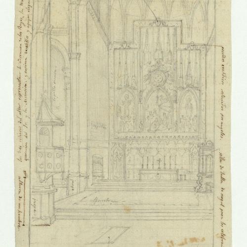 Marià Fortuny - Altar major d'una església - Cap a 1867-1872