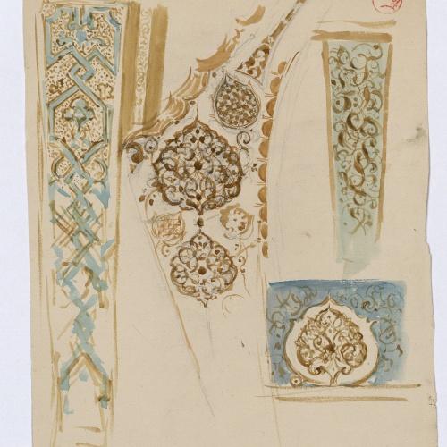 Marià Fortuny - Ornamentacions d'estil musulmà - Cap a 1870-1872