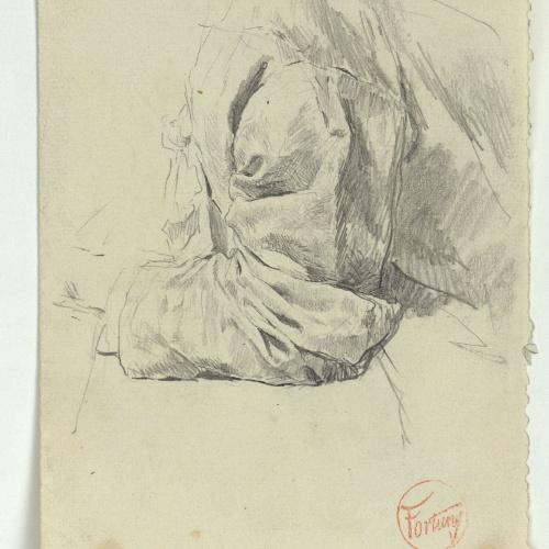 Marià Fortuny - Study of clothing - Circa 1863-1872