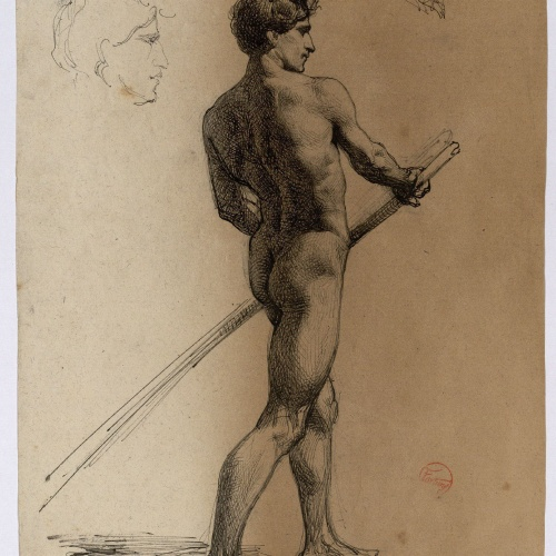Marià Fortuny - Study of a male nude - Circa 1860