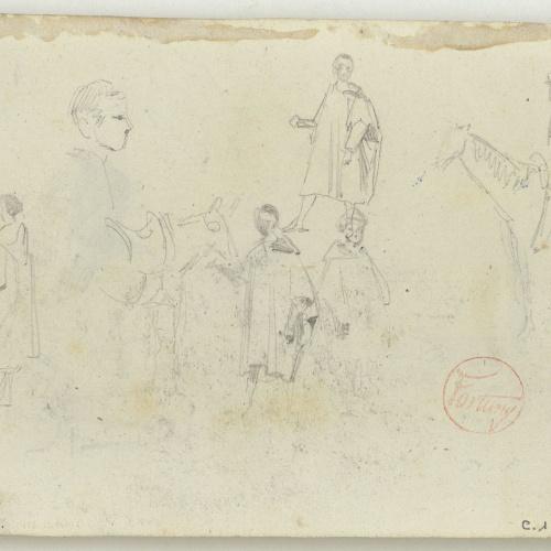 Marià Fortuny - Moroccans and horses - Circa 1860-1862
