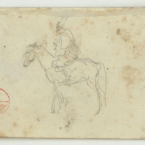 Marià Fortuny - Genet marroquí a cavall (anvers) / Ruc i marroquins (revers) - Cap a 1860-1862