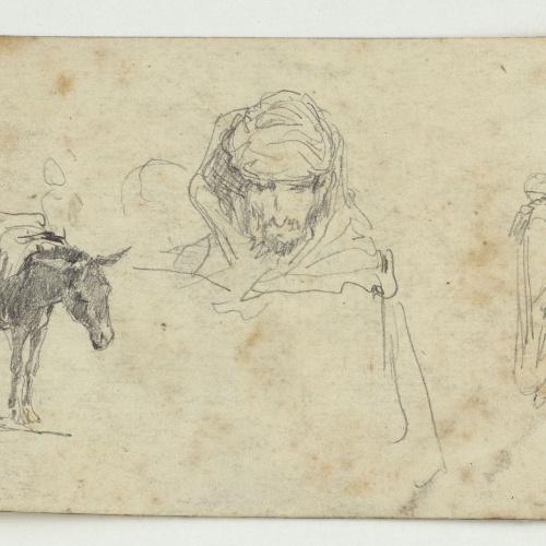 Marià Fortuny - Genet marroquí a cavall (anvers) / Ruc i marroquins (revers) - Cap a 1860-1862 [1]