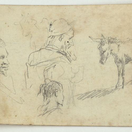 Marià Fortuny - Marroquins i ase (anvers) / Pom d'espasa (revers) - Cap a 1860-1862
