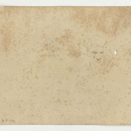 Marià Fortuny - Cabezas de hombre con turbante - Hacia 1860-1862