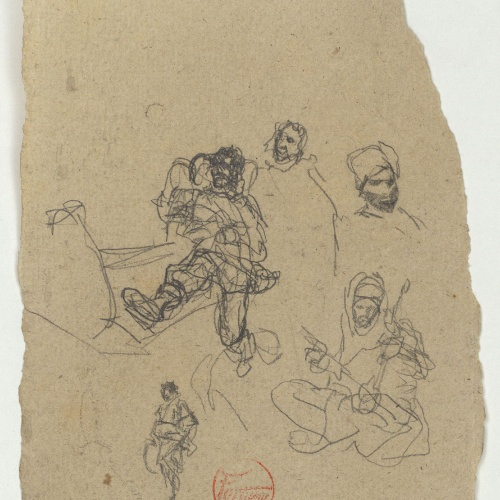 Marià Fortuny - Study for the picture 'Moroccan Musicians' - Circa 1870-1872