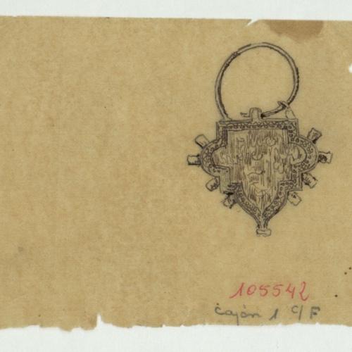 Marià Fortuny - Tracing of a Muslim-style fibula - Circa 1870-1872