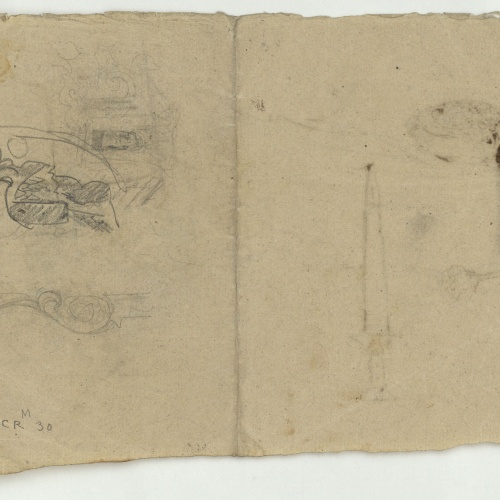 Marià Fortuny - Unidentifiable sketch - Circa 1867-1872