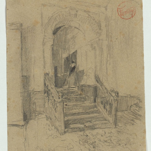 Marià Fortuny - Doorway in an interior and figure - Circa 1867-1870