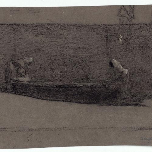 Marià Fortuny - Washerwomen - Circa 1863-1866