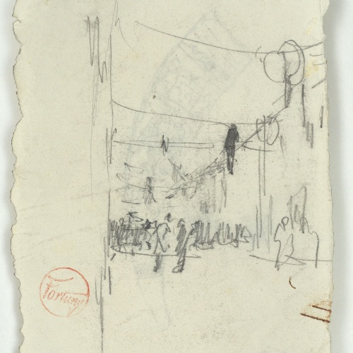 Marià Fortuny - Rough figure sketches  - Circa 1863-1867
